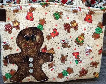 SALE Christmas Gingerbread Man Purse