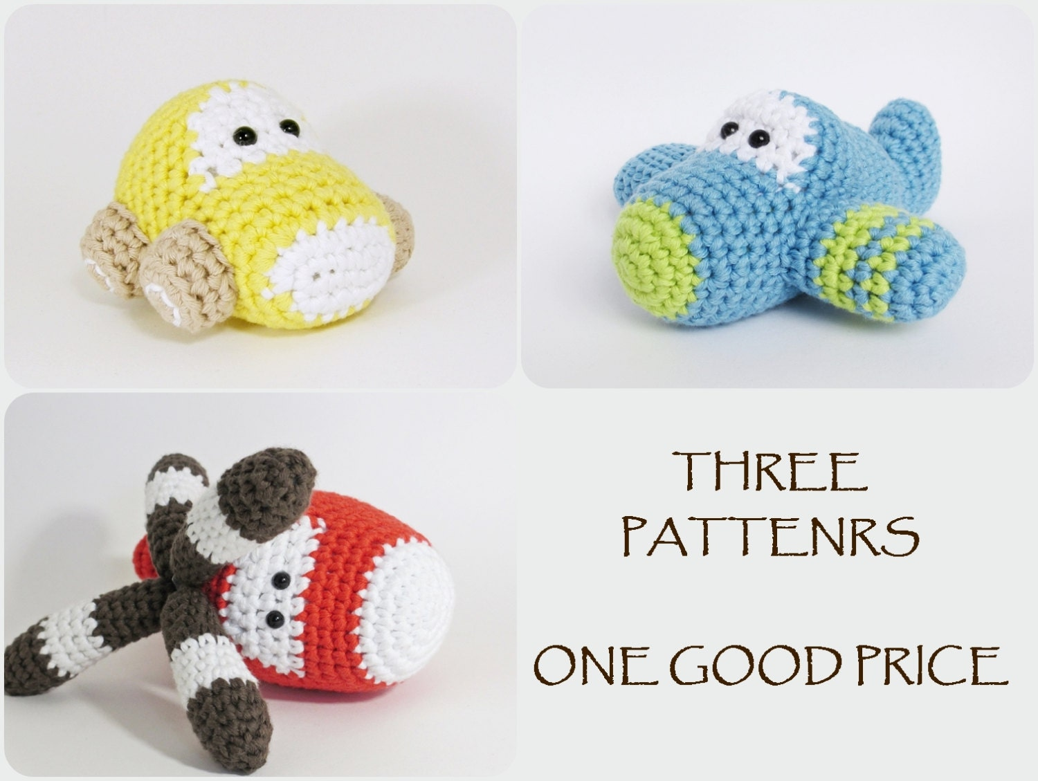 Free Crochet Patterns For Your Car : Crochet patterns amigurumi vehicles car airplane and