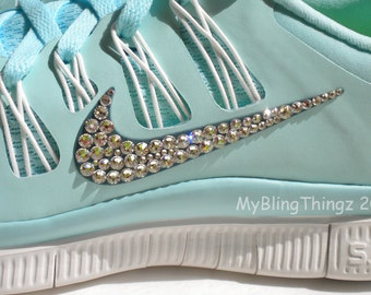 I Will Custom Bedazzle YOUR Nike Shoes with REAL Swarovski Elements Crystals - Nike Free 5.0 + V4 - Air Max Thea