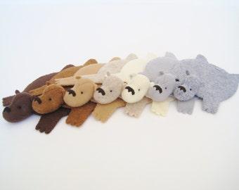 Bear Rug Coasters (Set of Six)