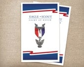 Eagle Scout Court of Honor Red, White, & Blue Program Cover. Digital Download.