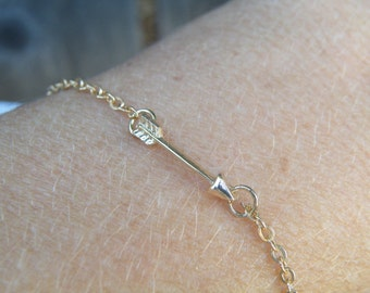 Gold Arrow Bracelet, Arrow Bracelet, Arrow, Christmas Gift, Gift, Tiny Arrow, Birthday Gift