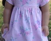 Pastel Pink Baby Doll Style Dress For American Girl Or Similar 18-Inch Dolls