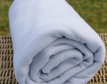 Microfleece Fabric, Grey, by the yard