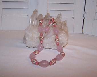 Pretty in Pink Glass Bead Necklace