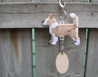 Portuguese Podengo Pequeno wire coat, dog art hang anywhere, crate tag decor handmade, Magnet option