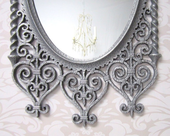 Neoclassic framed mirror gothic mirror silver by for Long thin decorative mirrors
