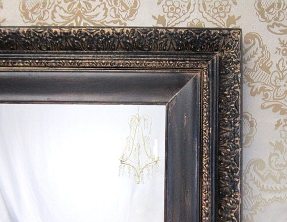 Antique mirrors for sale 28x24 ornate french by revivedvintage for Fancy wall mirrors for sale