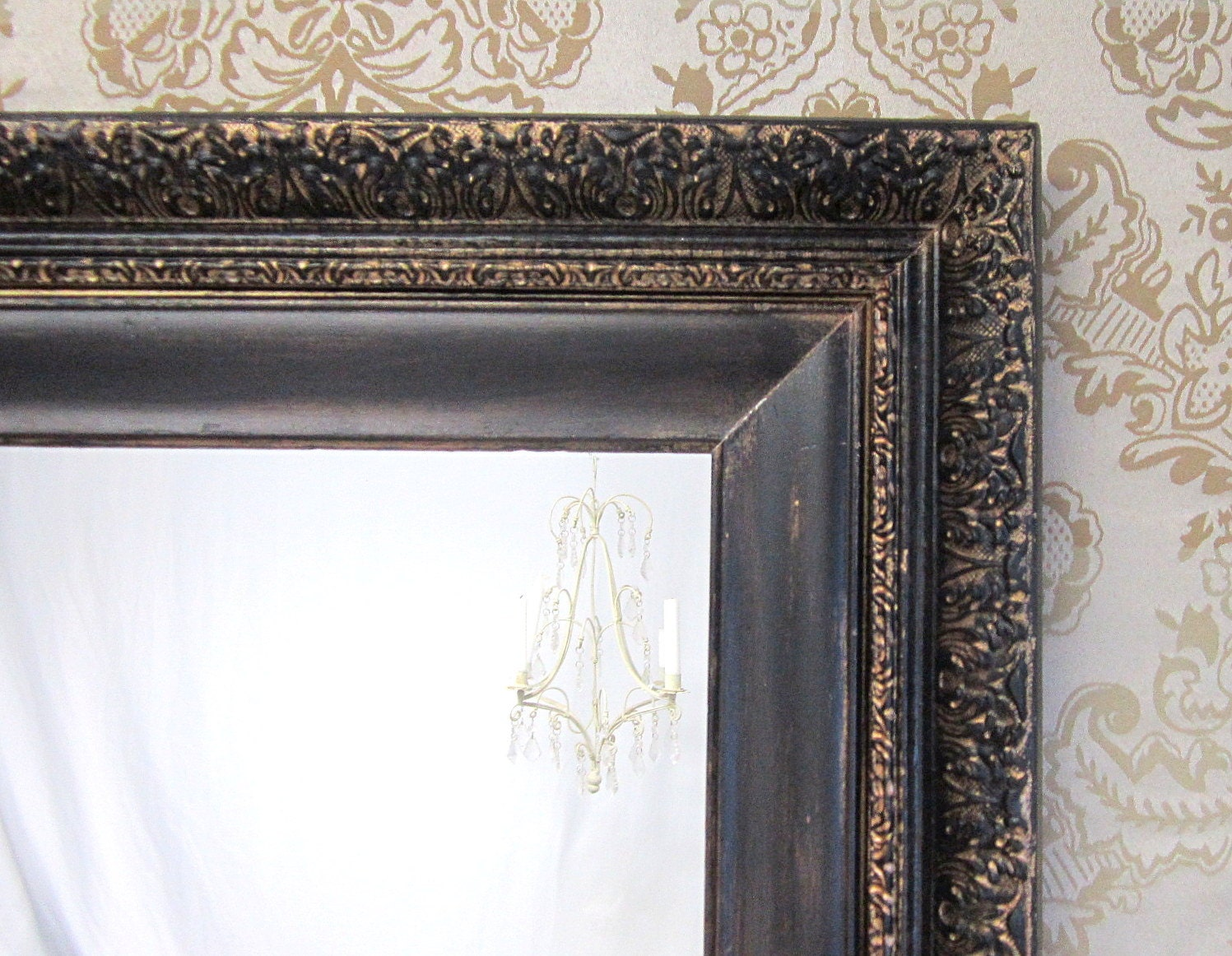 Antique mirrors for sale 28x24 ornate french by revivedvintage for Decorative wall mirrors for sale