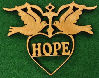 Wood Doves - Hope Ornament