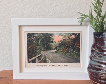 Grass Valley, California - framed vintage postcard