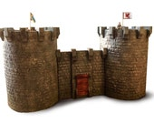 Revolving castle with drawbridge