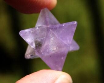 Amethyst Quartz Merkaba Crystal Specimen
