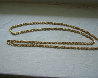 """Gold Triple 23""""  Link Chain New Old Stock"""