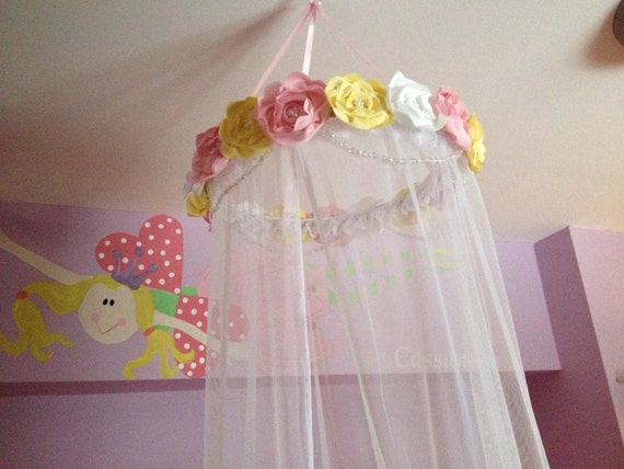 Custom Fabric Flower Canopy Bed Canopy Fabric Flower Bed