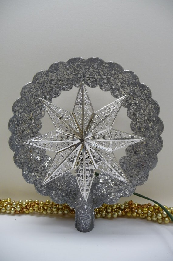 Vintage Christmas Tree Topper Star Retro Mid Century Atomic