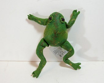 Vintage Stuffed Frog For Crafts