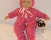 PRETTY IN PINK Baby doll knitting pattern