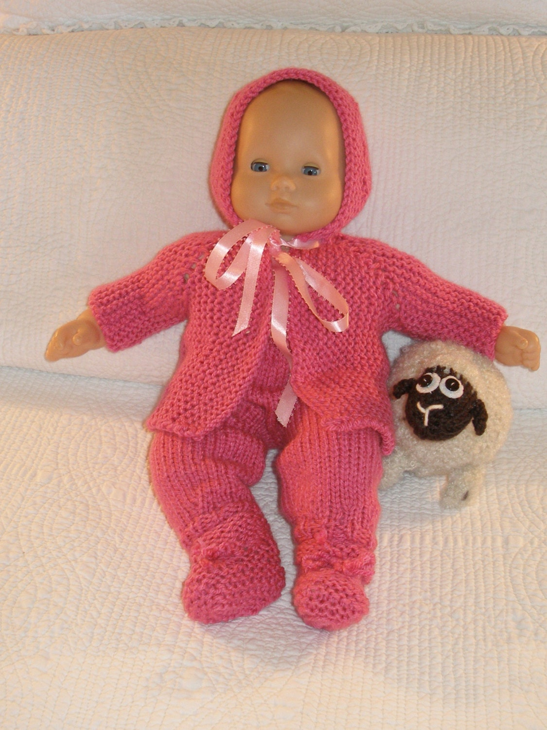 Knitting Baby Doll : Pretty in pink baby doll knitting pattern