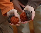 Pattern Only! Knitted Acorn using Double Points