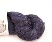 Silk Lace- 100% Silk  - Midnight Sky