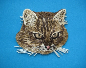 Iron-on Embroidered Patch Cat 2.5 inch