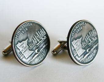 2005 Custom Minnesota State Quarter Cufflinks cuff links handmade