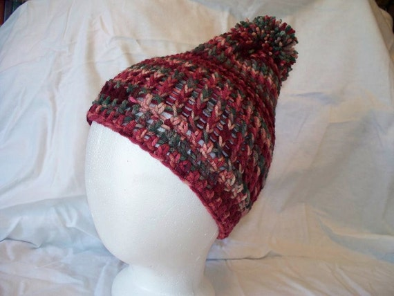 Loom Knitting For Kids : Loom knit slouch hat fits kids to adults