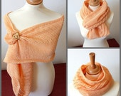 Knitting Pattern (PDF file) Diagonal Lace Cowl-Scarf-Shawl