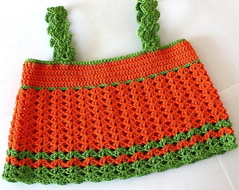 Crochet Pattern (PDF file) Baby Toddler Top Happy Summer (sizes 0 -3 months up  to 4 years)