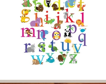 Alphabet Nursery Vinyl Wall Decal Set