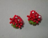 Ruby Bouquet Earrings