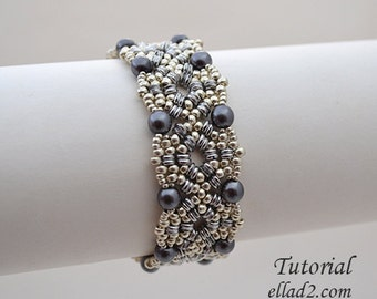 Tutorial Inanna Bracelet-Beading Pattern,Jewelry Tutorial,PDF file, Instant download