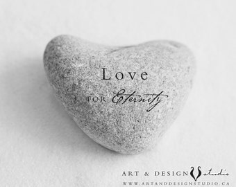 Love Wall Art, Love Art Print, Heart Stone, LOVE Print Poster, Inspirational Print, Love Eternity, Couples Gift, Gifts Her, Love Gifts, Art