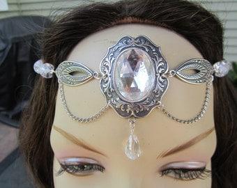Crystal Circlet of the Starlight Elven Celtic Druid Fairy Bridal Cosplay Halloween Wedding