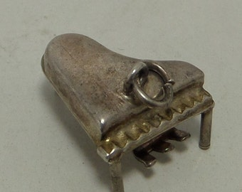 GRAND PIANO Sterling Silver Charm or Pendant
