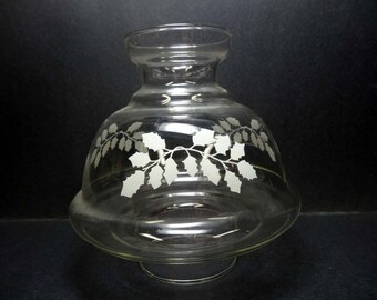 Clear Glass Lamp Shade Etched with Holly Leaves Christmas Shade Home and Garden Lighting Accessories Lamp Shades