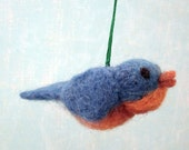 Little Bluebird,Needle Felted, Home Decor, One of a Kind, Gift
