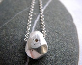 Silver facet necklace by Cari-Jane Hakes, hybrid handmade, from the Essential Simplicity series