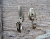 Antique Fork and Spoon Wall Hooks - Antique - Wall Decor