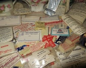 Antique Apothecary Labels-Pharmacy-Old Stock-Unused-500 pieces