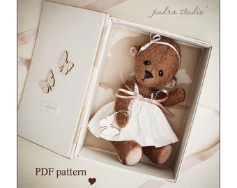 Teddy Bear Pattern Mona by Pudra Studio 30 cm ePattern Instant Download PDF Pattern Artist Teddy Bear pattern