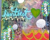"""Her Very First Heartbeat Me Mixed Media PAINTING 8""""x10"""""""