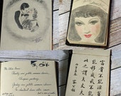 Vintage Art Autograph Book and Sketch Book and Photo circa 1934 - 1936 College Student OOAK