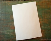 """100 A7 Flat Cards: Recycled Flat Cards, 5 1/8 x 7"""" (130 x 178 mm) or 5x7"""" bright white, natural white or ivory, 80lb./ 218gsm."""