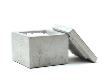 Concrete Q-Tip Holder