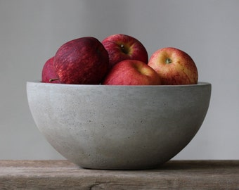 Concrete Fruit Bowl 10""