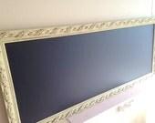 23x55 NARROW KITCHEN CHALKBOARD Back to School Organizer Long Tall Framed Chalkboard Sage Green Large Bulletin Board Wall Decor Magnetic