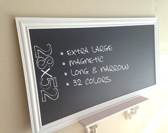 28x52 LARGE KITCHEN CHALKBOARD Framed Chalk Board Office Organizer Huge Magnetic Modern Bulletin Board White Wedding Decor - MoRE CoLORS