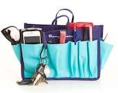 Cherry Blooms Bag Organizer BLUE Size Mini/Small/Medium/Large